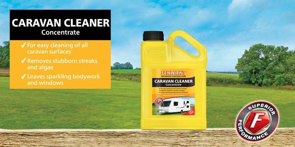 A 1 litre bottle of Fenwicks caravan cleaner